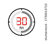 the 30 minute icon isolated on...