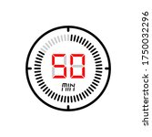 the 50 minute icon isolated on...