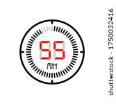 the 55 minute icon isolated on...