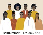 black community  african people ... | Shutterstock .eps vector #1750032770
