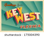 vintage touristic greeting card ... | Shutterstock .eps vector #175004390