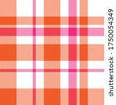 orange plaid  checkered  tartan ... | Shutterstock .eps vector #1750054349