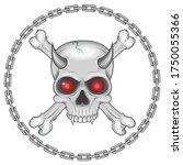 illustration of skull with bone ... | Shutterstock .eps vector #1750055366