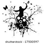 vector design of woman dancing... | Shutterstock .eps vector #17500597