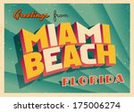 vintage touristic greeting card ... | Shutterstock .eps vector #175006274
