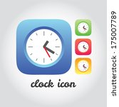 clocks colored icons collection.... | Shutterstock .eps vector #175007789