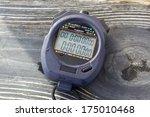 close up of a stop watch  | Shutterstock . vector #175010468