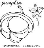 vector drawing of pumpkins.... | Shutterstock .eps vector #1750116443