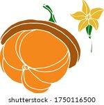 vector drawing of pumpkins.... | Shutterstock .eps vector #1750116500