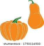vector drawing of pumpkins.... | Shutterstock .eps vector #1750116503