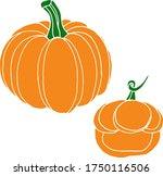 vector drawing of pumpkins.... | Shutterstock .eps vector #1750116506