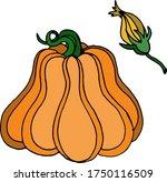vector drawing of pumpkins.... | Shutterstock .eps vector #1750116509