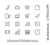set of website icons for online ...