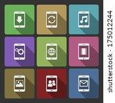 mobile devices ui design set ...
