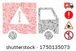 linear collage danger transport ...   Shutterstock .eps vector #1750135073
