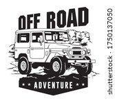 off road vehicle in the rock... | Shutterstock .eps vector #1750137050