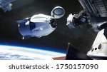 Spacex crew dragon spacecraft...
