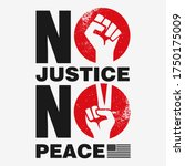 no justice no peace t shirt... | Shutterstock .eps vector #1750175009
