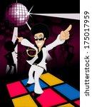 70s Male Disco Dancer Dancing...