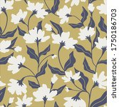 seamless floral pattern. fabric ...   Shutterstock .eps vector #1750186703
