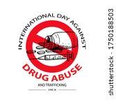 international day against drug... | Shutterstock .eps vector #1750188503