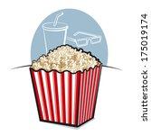 popcorn | Shutterstock .eps vector #175019174