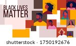 no racism abstract background...   Shutterstock .eps vector #1750192676