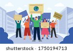 this colorful illustration... | Shutterstock .eps vector #1750194713