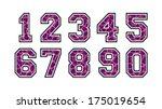 retro alphabet   numbers  sport ... | Shutterstock .eps vector #175019654