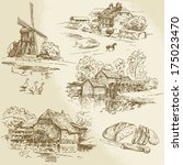 hand drawn collection of... | Shutterstock .eps vector #175023470