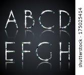 diamond alphabet letters   eps10 | Shutterstock .eps vector #175025414