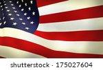 usa american flag  | Shutterstock . vector #175027604