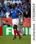 Small photo of Cologne, GERMANY - June 23, 2006: Lilian Thuram looks on during the 2006 FIFA World Cup Germany Togo v France at the Rhein Energie stadium.