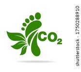 co2 footprint concept sign icon ...   Shutterstock .eps vector #1750288910