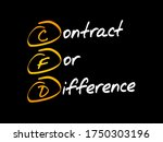 cfd   contract for difference... | Shutterstock .eps vector #1750303196