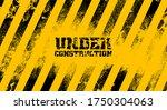under construction on warning... | Shutterstock .eps vector #1750304063