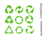 collection of green recycle... | Shutterstock .eps vector #1750307243