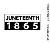 Juneteenth 1865 poster, t-shirt design, banner, card, festive sticker.  American holiday Freedom (Jubilee, Cel-Liberation) Day concept. Modern vintage vector lettering.