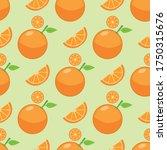seamless background of orange... | Shutterstock .eps vector #1750315676