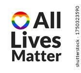 All Lives Matter Concept....