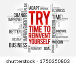 try   time to reinvent yourself ... | Shutterstock .eps vector #1750350803