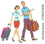 illustration of a young couple... | Shutterstock .eps vector #175037600