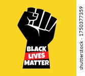 black lives matter protest... | Shutterstock .eps vector #1750377359