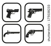 gun icon   four variations | Shutterstock .eps vector #175038233