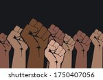 stop racism. many multi colored ...   Shutterstock .eps vector #1750407056