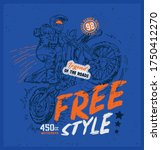 Legent speed master riders. Born free city Motorcycle Racer with typography. T-shirt design, print, poster, vector. Original wear. Concept in graphic style for print production.
