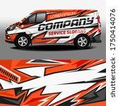 van livery vector design. car... | Shutterstock .eps vector #1750414076