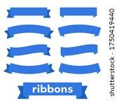 cartoon ribbon set illustration....   Shutterstock . vector #1750419440
