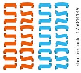 set of blue and orange clean... | Shutterstock . vector #175044149