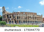 the colosseum or coliseum  also ... | Shutterstock . vector #175044770